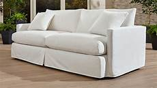 Outdoor Slipcovers For Sofa 3d Image by Lounge Ii Outdoor Slipcovered 93 Quot Sofa Crate And