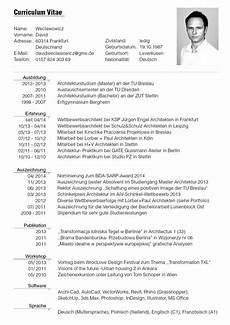 Lebenslauf Sample Format Of German Tabular Cv Question Preplounge Com
