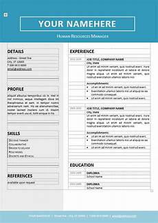 Editable Resume Template Jordaan Clean Resume Template