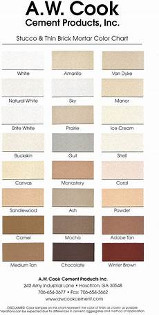 Solomon Mortar Color Chart A W Cook Cement Products