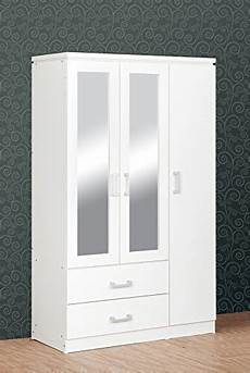 seconique charles 3 door 2 drawer mirrored wardrobe in