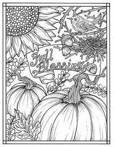 Ausmalbilder Herbst Pdf Fall Blessings Instant Digital Coloring Page Autumn