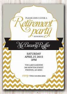 Template For Retirement Party Invitation Retirement Party Invitation Gold And Silver Or Pick Any Color
