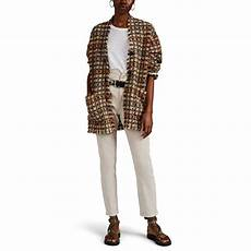 marant daianaly checked wool in brown lyst