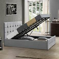 ottoman bed 4ft6 wood frame gas lift storage