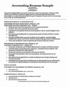 Accounting Objective Resume Accounting Cpa Resume Sample Resume Companion