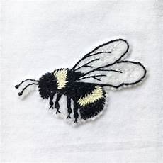 embroidered bumble bee t shirt handmade by lint thread