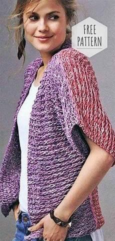 knitting vest free pattern shrug knitting pattern easy