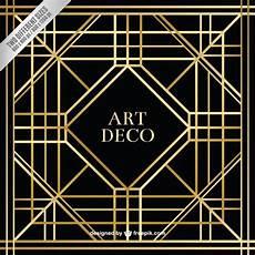 Art Deco Vector Geometric Art Deco Background Free Vector