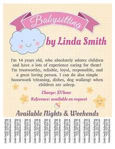 Babysitter Available Ads Babysitting Flyer Templates Postermywall