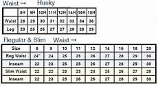 Boys Jeans Size Chart Levi S Boys Husky Size Chart Levi S Infant Youth 550