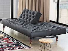 black tufted chesterfield sofa bed by per weiss