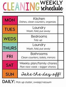 Printable Cleaning Schedule Template Weekly Cleaning Schedule Template Download Printable Pdf