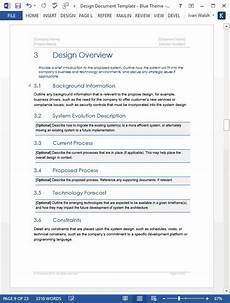 Sample Word Document Design Document Templates Ms Wordexcel Data Dictionary