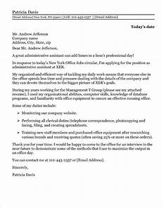 Executive Administrative Assistant Cover Letter Sample Administrative Assistant Cover Letter Sample