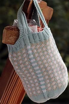 fair isle market knit bag pattern allfreeknitting