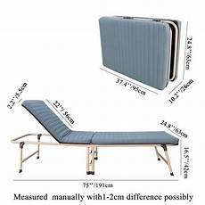 75 quot large fold up bed w mattress folding single visitor
