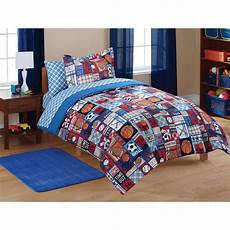 boys sports bedding set size includes comforter 76x86