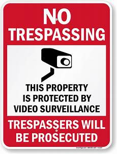 Printable Sign Free Security Cctv And No Trespassing Signs