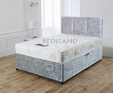 velvet divan bed with matching mattress free delivery