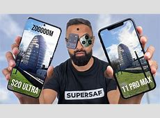 Samsung Galaxy S20 Ultra vs iPhone 11 Pro Max Camera Test