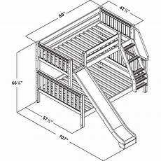medium bunk bed slide bed with slide