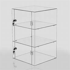 clear acrylic display cabinet large box cube stand