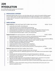 Care Worker Personal Statement How To Write A Support Worker Cv Example Amp Templates Guide
