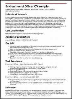 What Is Career Summary In Cv Environmental Officer Cv Example Myperfectcv