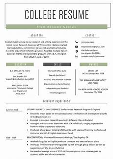 Professional Resume For College Student College Student Resume Sample Amp Writing Tips Resume Genius