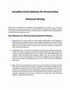 Career Goal Statement Personal Goal Statement Writing Resources Every Student Needs