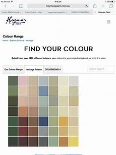 Heritage Paint Colour Chart Haymes Heritage Colour Palette Paint Color Chart Paint