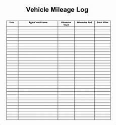 Mileage Log Template For Taxes Free 17 Sample Mileage Log Templates In Ms Word Ms