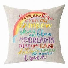 encouraged saying somewhere the rainbow