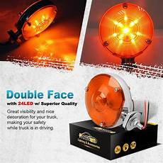 Universal Light Assembly 2x Double Face Turn Signal Amber Stop Light Assembly