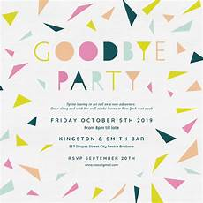Farewell Invitation Email Goodbye Party Retirement Amp Farewell Party Invitation