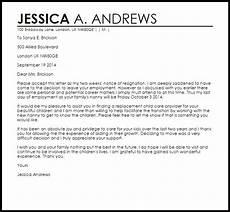 Nanny Resignation Letter Nanny Resignation Letter Resignation Letters Livecareer