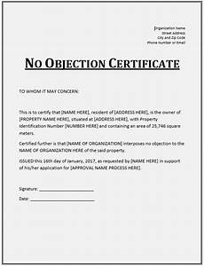 Sample Noc 10 Free Sample No Objection Certificate Templates