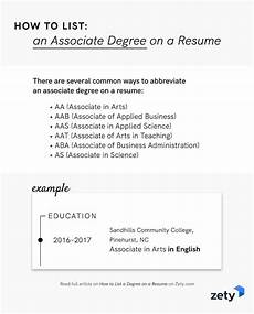 Name Your Resumes How To List A Degree On A Resume Associate Bachelor S