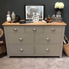 wembley grey painted 7 drawer multi chest of drawers
