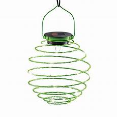 Spiral Solar Lights Unique Spiral Coil Spring Solar Powered Hanging Lantern