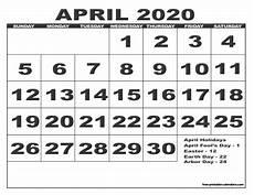 print calendar april 2020 2020 calendar style 6 free printable calendars