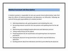 Clerical Duties Of A Medical Assistant 10 Sample Resume For Medical Assistant Job Description