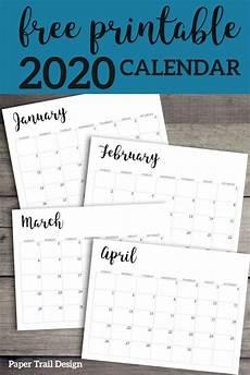 Free Calendars 2020 Printable 2020 Calendar Printable Free Template Monthly Planner