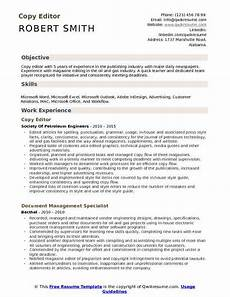Sample Resume Copy Copy Editor Resume Samples Qwikresume