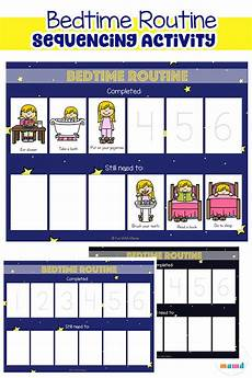To Do Chart For Toddlers Toddler Bedtime Routine Chart Sequencing Activity Fun