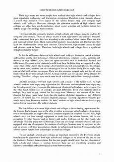 Comparison And Contrast Essay Introduction Examples Compare And Contrast Essay