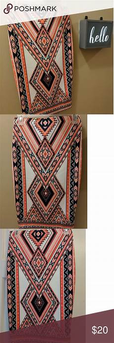 Aztec Design Skirts Gently Used By Amp By Aztec Design Skirt Size Small With