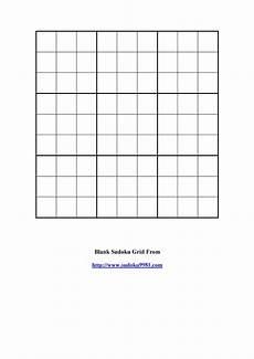 Blank Grid Template 50 Blank Sudoku Grids Free Amp Printable ᐅ Templatelab