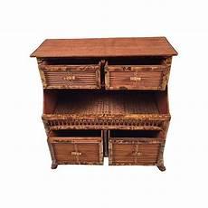 rattan storage cabinet chairish